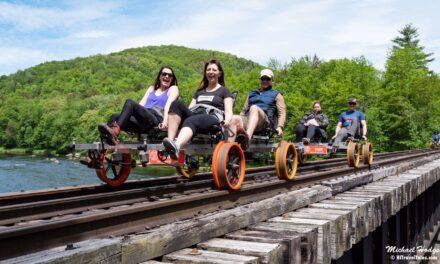 Railbiking: Riding the rails on a railbike with Revolution Rail