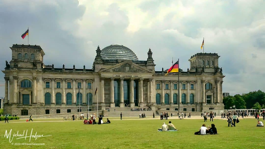 Reichstag Building Berlin View From The Front Lawn