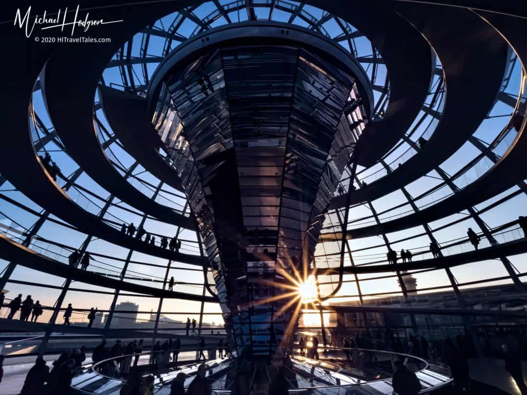 The Reichstag Dome Spirals With A Starburst