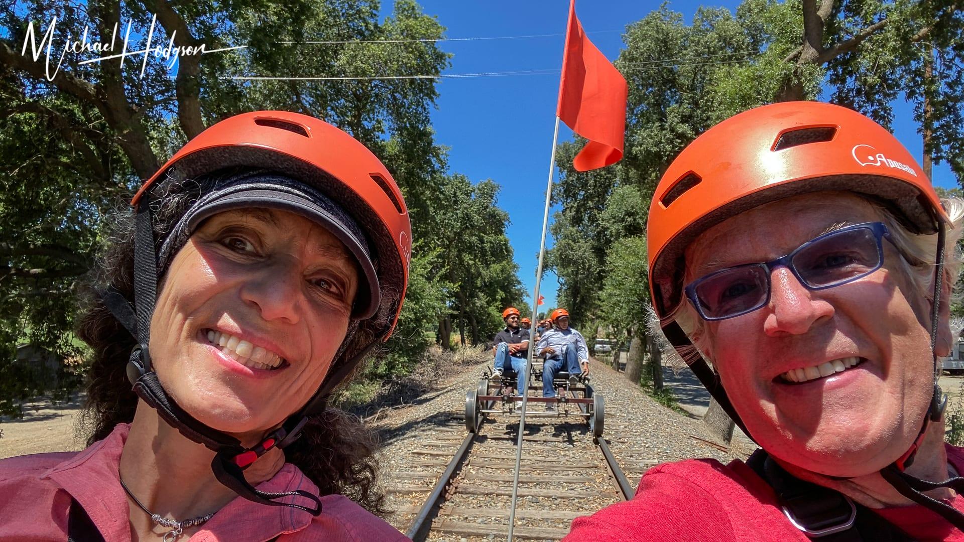River Fox Railbikes Railbiking Adventure Selfie