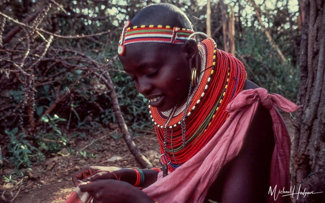 Samburu Woman Sewing 1978 Kenya Trip