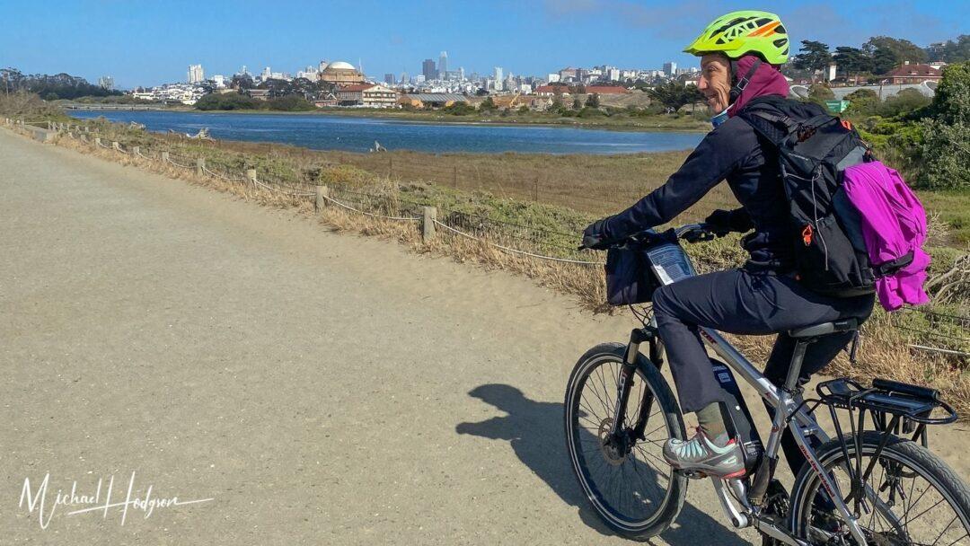 San Francisco Skyline Therese Iknoian Electric Bike