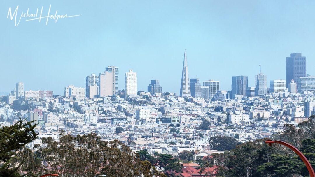 San Francisco Skyline View From Presidio Cabin