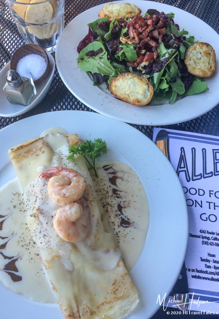 Seafood Crepe At Allez French Restaurant