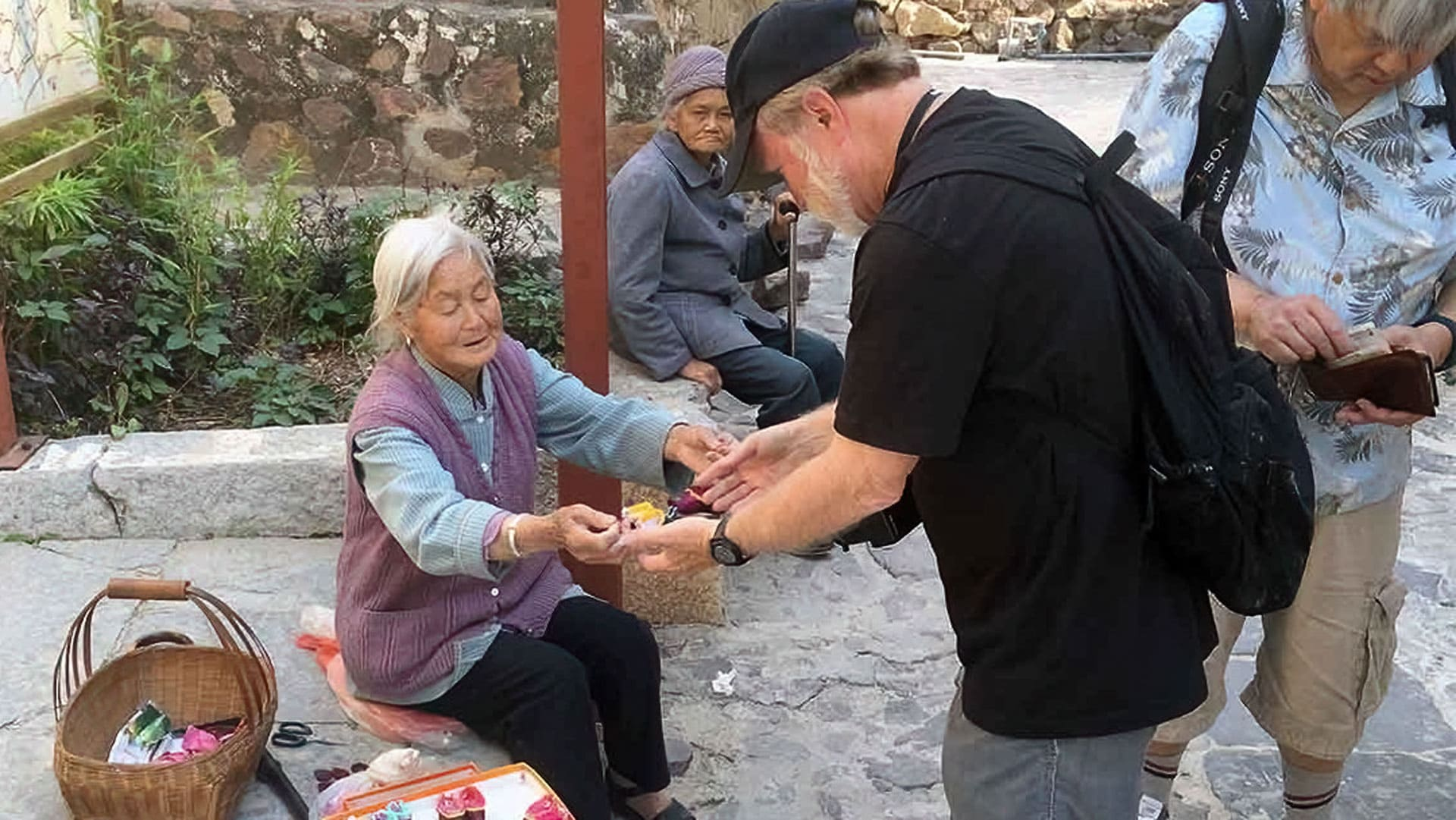 Spending Money In China Woman Barter