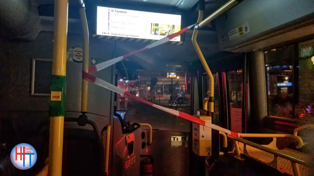 Tegel Airport Bus Berlin Tape Barrier