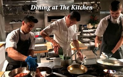 Dining at The Kitchen, where dinner IS the show