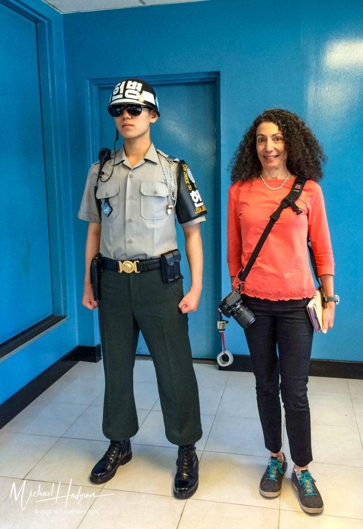 Therese Iknoian Dmz Tour Korea Guard