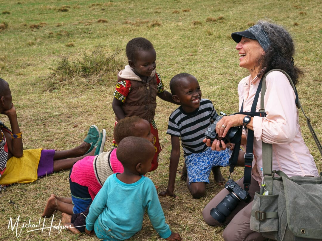 Laughing With Maasai Children