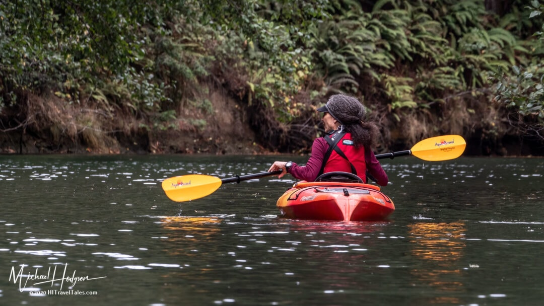 Therese Iknoian Paddling One The Noyo River In Mendocino