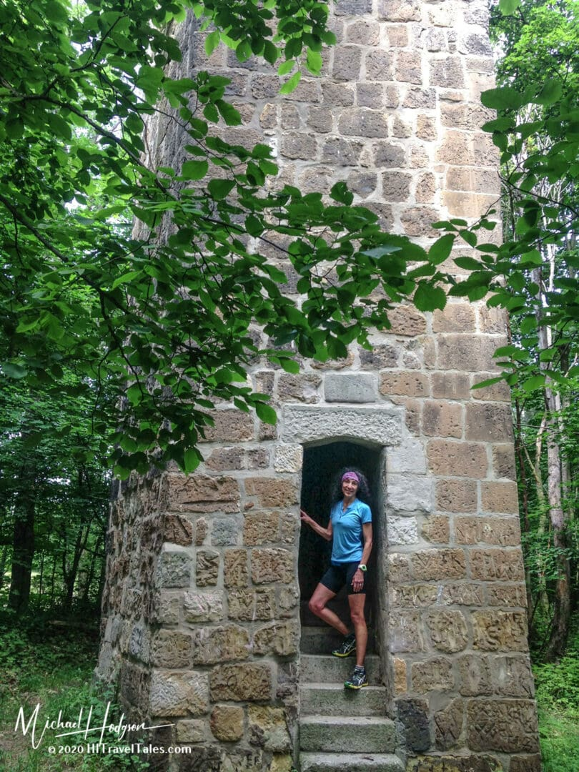 Therese Iknoian At The Entrance To The Quedlinburg Old Watch Tow