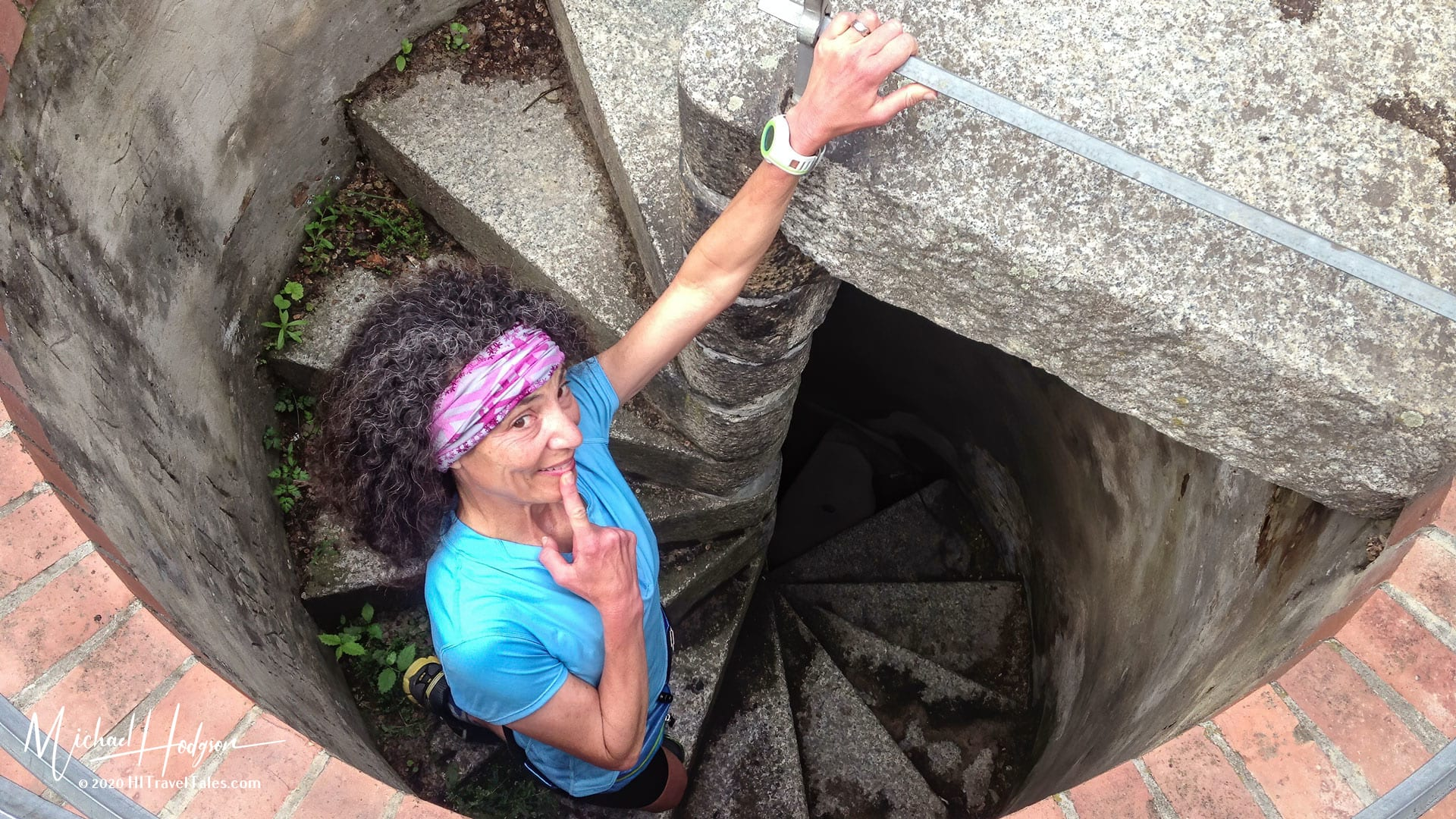 Therese Iknoian On The Stairs In The Quedlinburg Old Watch Tower