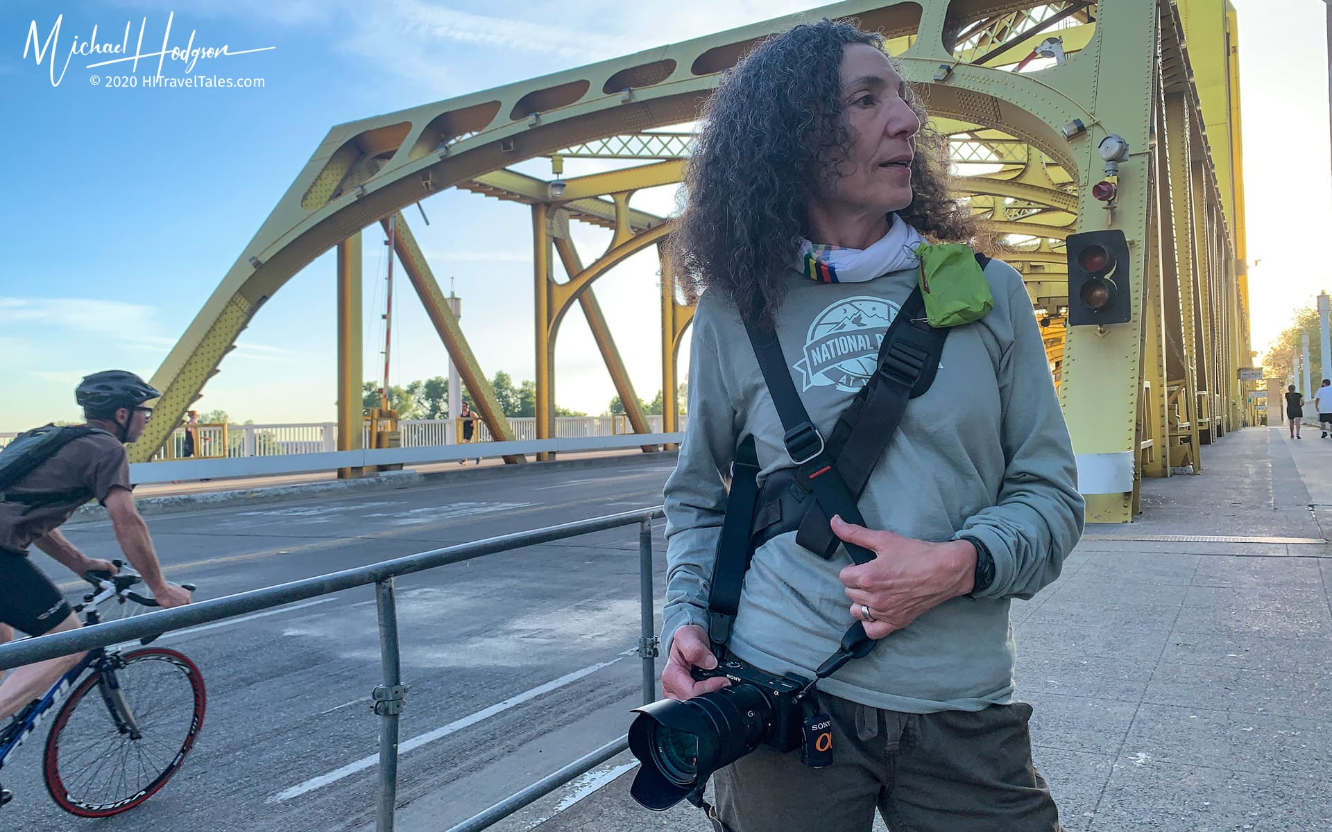 Therese Iknoian Shooting From The Hip On The Tower Bridge In Sac