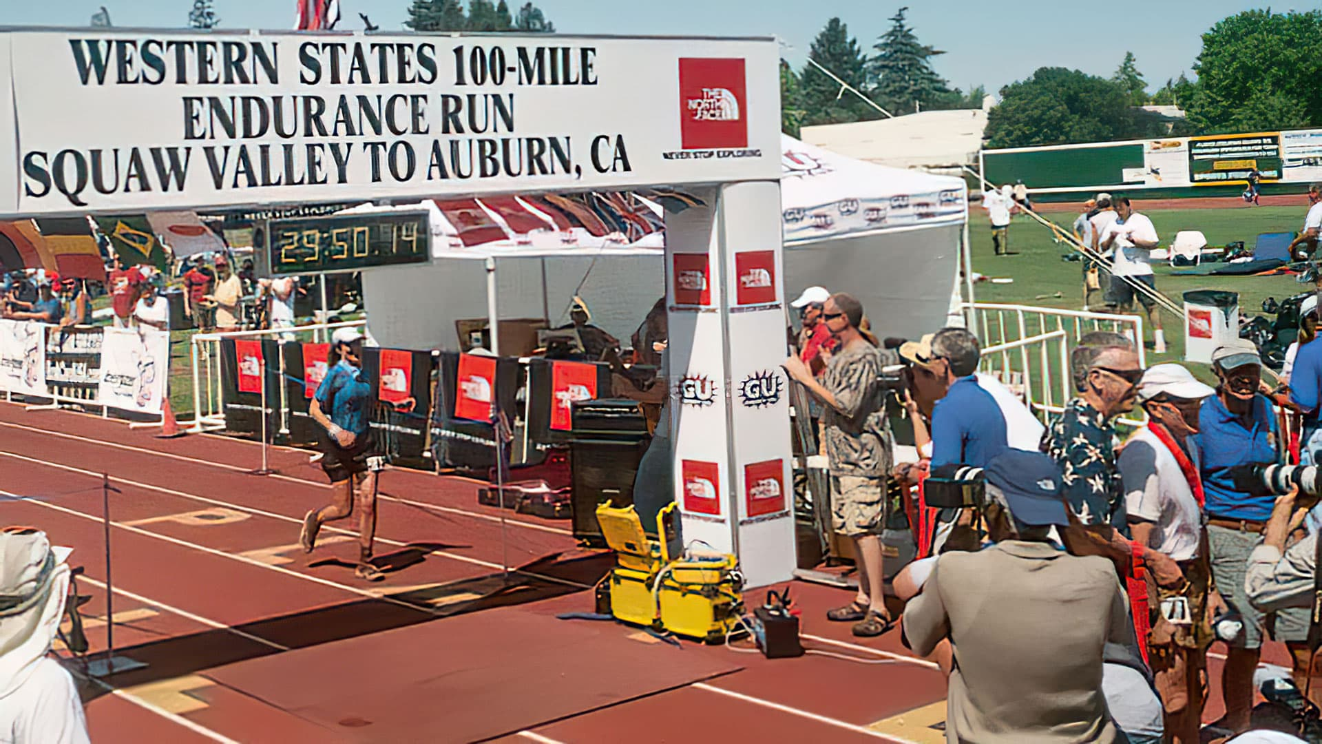 Therese Iknoian Western States 100 Finish Line