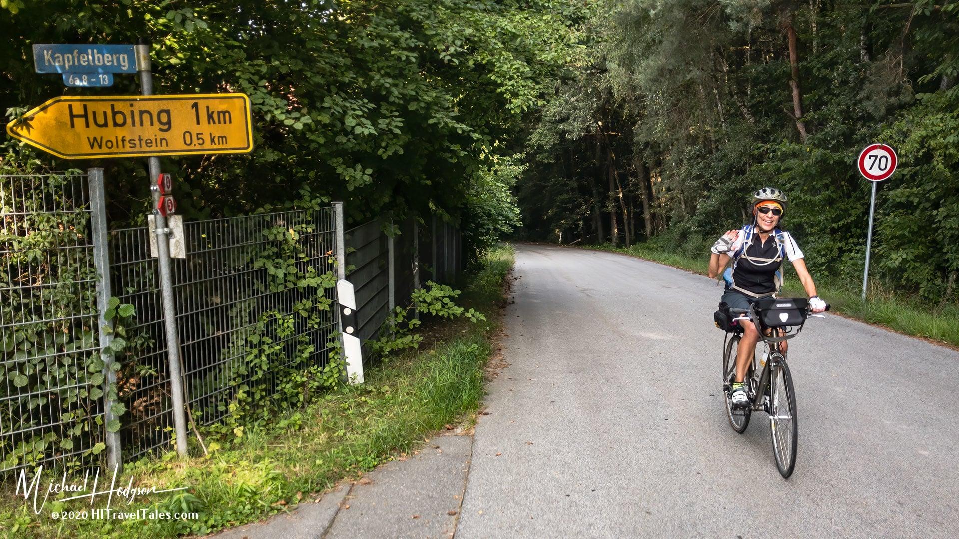 Therese Iknoian On The Danube Bike Trail Near Niederwinkling