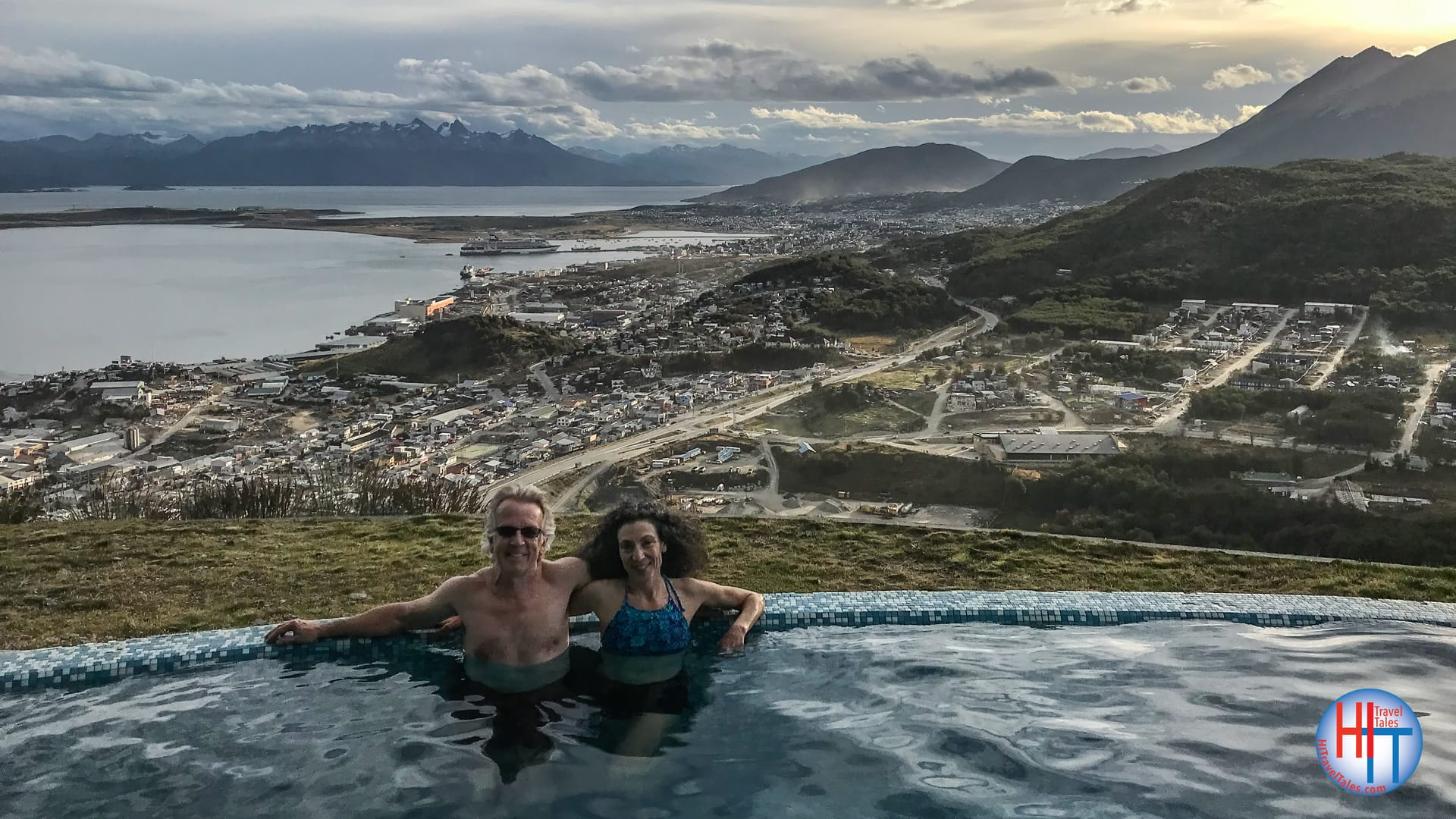 Michael Hodgson And Therese Iknoian In The Infinity Pool At The