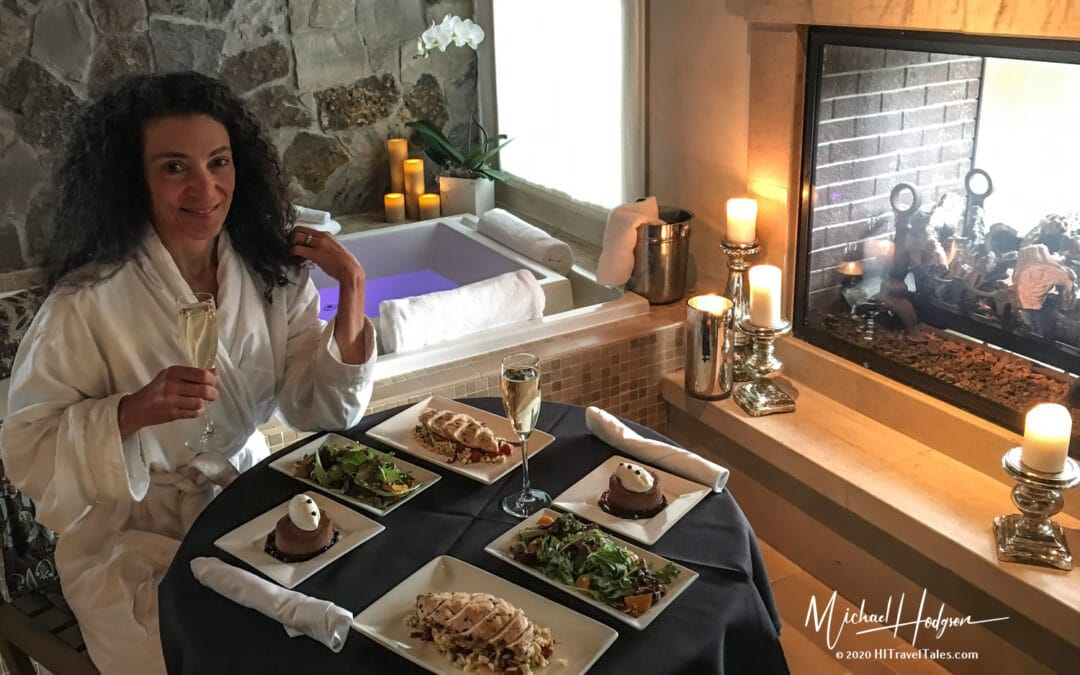 Therese Getting Ready To Enjoy A Meal In The Private Spa Suite A