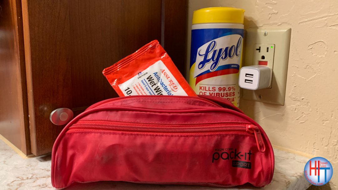 Things to pack to travel safely - Sanitizing Wipes For Travel