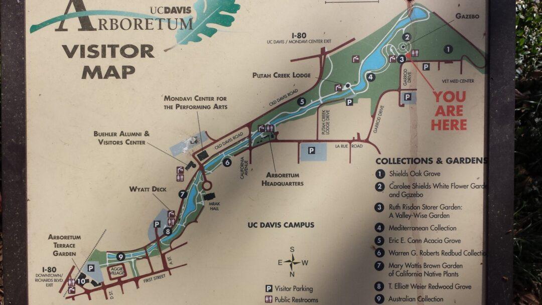 UC Davis Arboretum Map