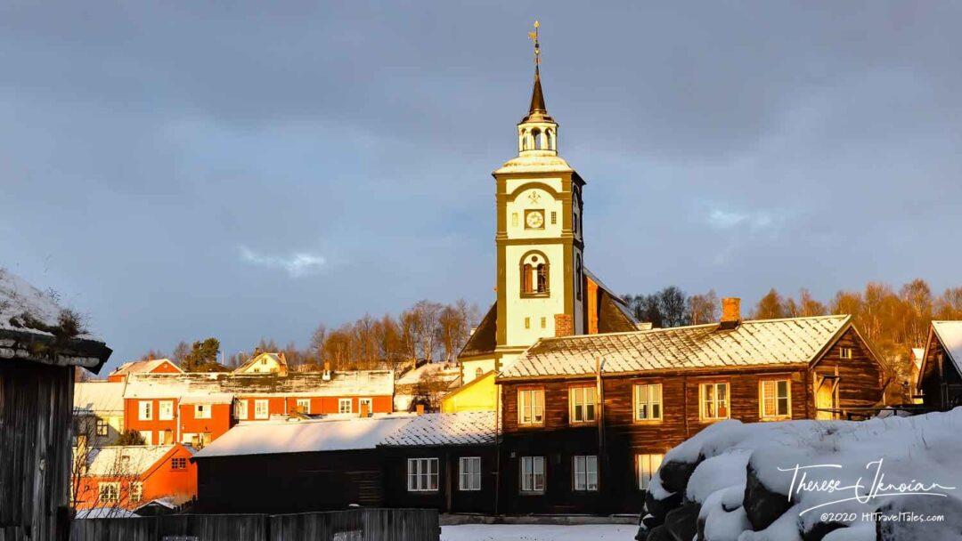 Visit Roros Norway Roros Church Steeple Sunrise