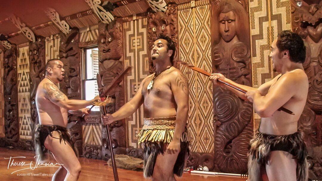 Maori Warriors Perform At The Waitangi Treaty Grounds In New Zea