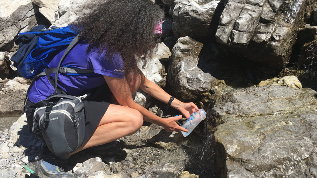 Therese Iknoian Filling Katadyn BeFree Water Bottle From A Strea