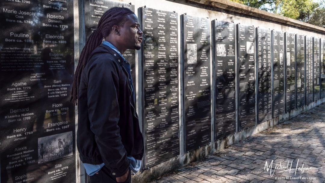 Ali At The Wall Of Honor At Whitney Plantation Museum Of Slavery