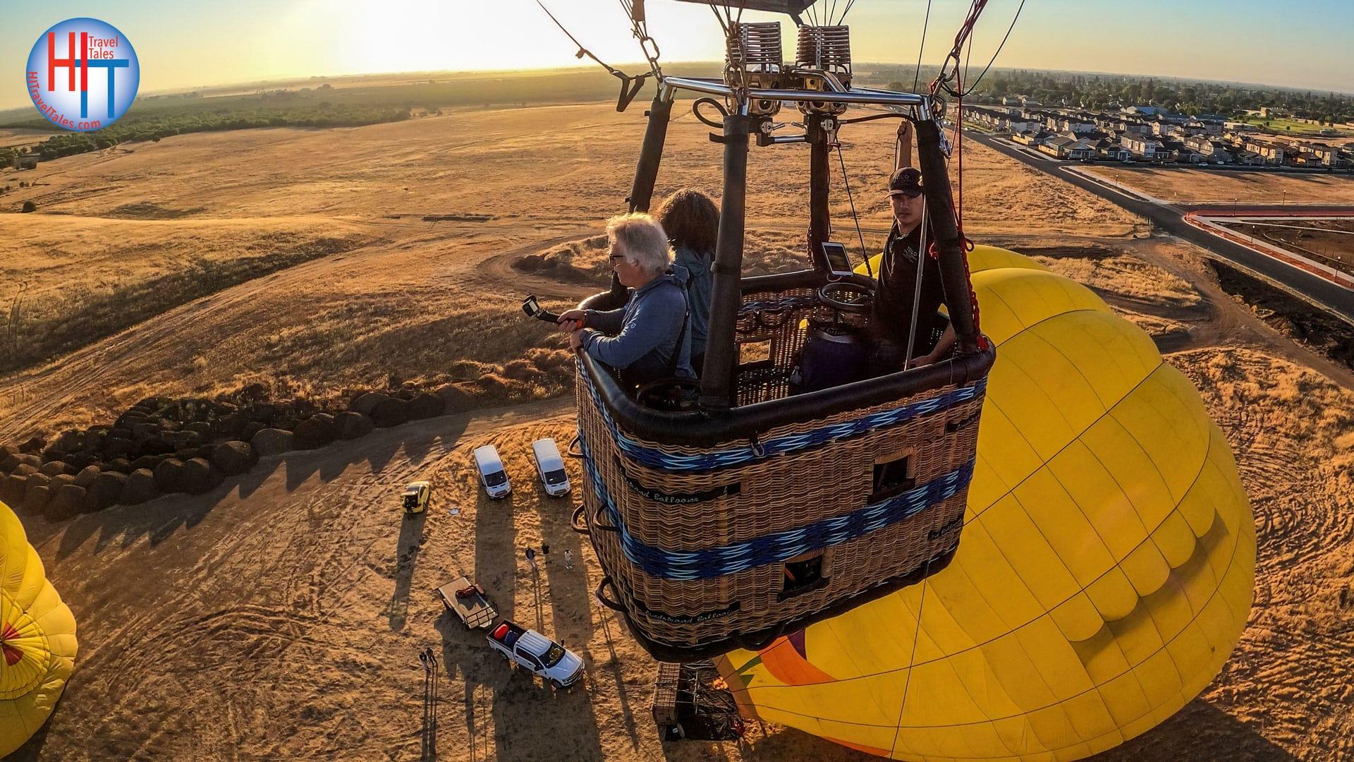 Yolo Ballooning Adventures Takeoff Group Selfie